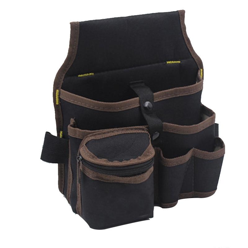 Urijk Tool Bag High Capacity Waist Pockets Electrician Tool Bag Oganizer Carrying Pouch Waist Pocket Case Tools Apron Belt Bag