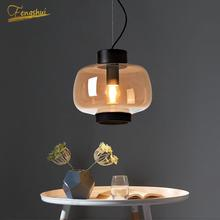 Modern LED Pendant Lamp Installation  Nordic Creative Glass Pendant Lights Lighting Bedroom Living Room Dining Room Hanging Lamp nordic wrought iron round led pendant lamp lighting modern creative pendant lights bedroom dining kitchen living loft room lamps