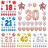 24 قطعة/المجموعة عيد ميلاد سعيد احباط عدد البالونات 18 20 25 30 40 50th الكبار عيد ميلاد حزب زينة ستار البالونات