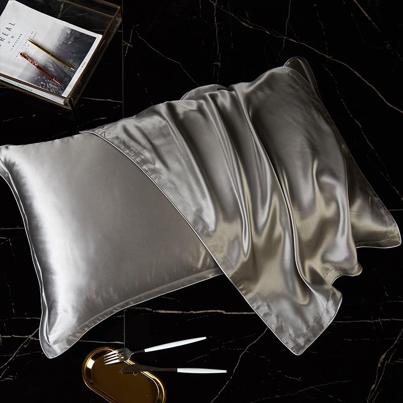 100% чистого шелка Подушка Чехол из натурального шелка Подушка Чехол шелк тутового шелкопряда Подушка Чехол шелковая подушка чехол