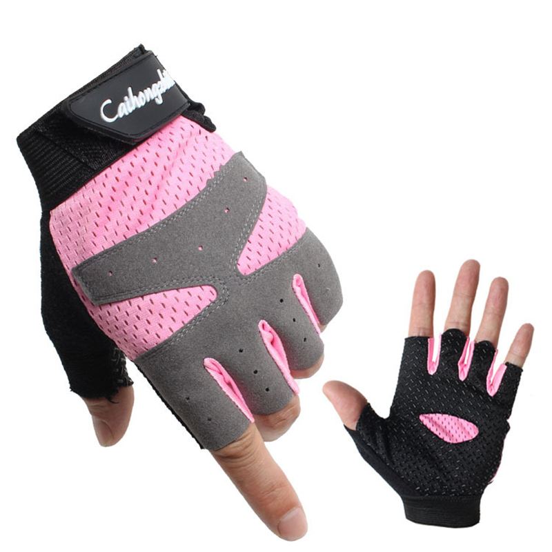 Summer Sports Fitness Gloves Women Gym Bodybuilding Weightlifting Dumbbells Yoga Training Sport Equipment Breathable Non-slip