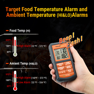 Image 4 - Thermopro 300フィートからTP 08Sワイヤレスリモート温度計食品キッチンバーベキュー喫煙グリルオーブン