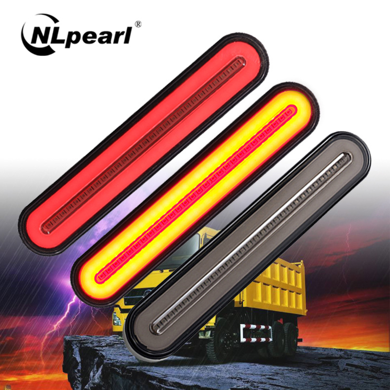 Nlpearl 2PCS Super Bright Waterproof LED Trailer Truck Brake Light Turn Light Sequential Signal LED Light Rear Tail Light 24V