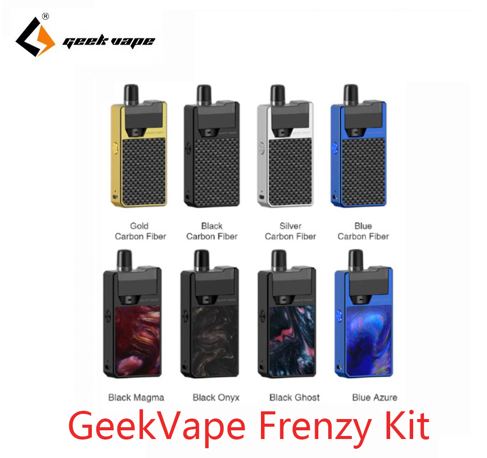 Clearance GeekVape Frenzy Kit Pod System With 2ml Cartridge 950mAh Vape Pod E Cigarette Kit VS Lost Vape Orion DNA