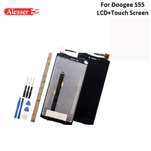 Alesser עבור Doogee S55 LCD תצוגת מסך מגע עצרת חלקי תיקון עבור Doogee S55 לייט LCD עם כלים דבק 5.5
