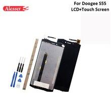 Alesser Doogee S55 LCD ekran ve dokunmatik ekran montaj onarım parçaları Doogee S55 Lite LCD araçları ile ve yapıştırıcı 5.5