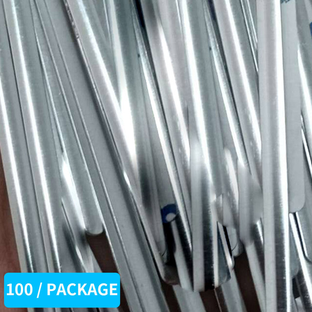 100pcs Durable Nose Bridge Strip with Adhesive Outdoor Sport Face Mask for N95 100PCS Aluminum Riding 90mm Epidemic Prevention 4
