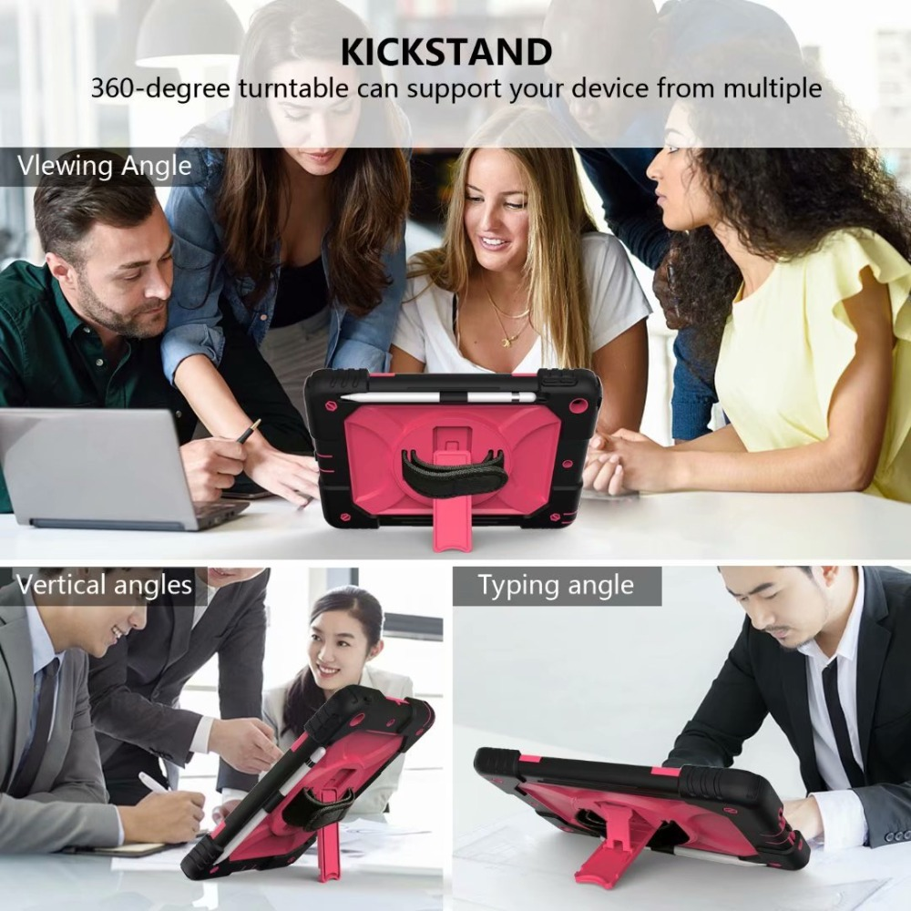 Hand iPad Cover Holder Generation For iPad Pencil Rotating Stand For Strap 360 Case 7th