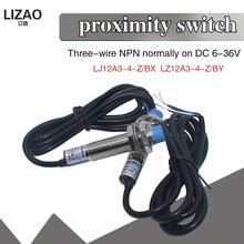 LJ12A3-4-Z/bx LJ12A3-4-Z/pelo interruptor indutivo novo da detecção do sensor de proximidade npn dc 6-36v