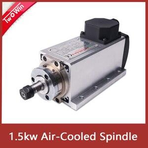 Image 1 - 1.5kw אוויר מקורר ציר מנוע 110V/220V כיכר אוויר קירור ציר כרסום ציר עבור CNC חריטה עץ נתב