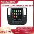Ouchuangbo SC7862 Автомагнитола Android 10 для 12,1 дюймов Infiniti FX FX35 FX45 FX25 FX37 2008-2010 tesla стиль GPS navig видео 128 ГБ