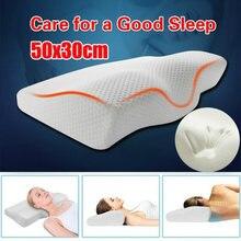 Almohada de espuma de memoria de rebote lento almohada de contorno Cervical para el dolor de cuello Anti ronquidos almohadas para dormir con funda de almohada lavable