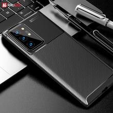 Para samsung galaxy note 20 ultra caso capa de fibra carbono macio tpu silicone caso do telefone para samsung galaxy note20 a40 a21s a50 a30