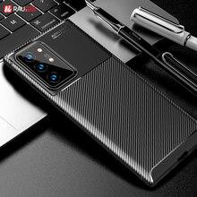 Per Samsung Galaxy Note 20 Ultra Cassa Della Fibra del Carbonio Della Copertura Molle di TPU Cassa Del Telefono Del Silicone Per Samsung Galaxy Note20 A40 a21S A50 A30