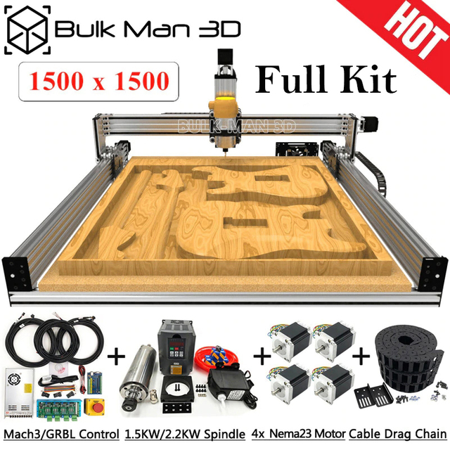 1515 Lead CNC Full Kit 1500x1500mm 4 Axis DIY CNC Carving Machine Complete Kit CNC Milling Engraver