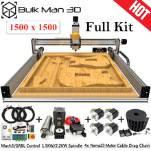 Cnc-Carving-Machine Lead-Screws Complete-Kit 1515 4-Axis Upgraded with 1500x1500mm DIY