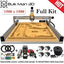 1515 chumbo cnc kit completo 1500x1500mm 4 eixos diy máquina de escultura cnc kit completo cnc moagem gravador