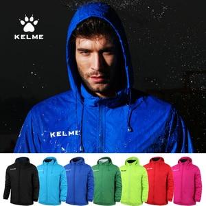 Image 2 - Kelme jaqueta com capuz escondido dos homens outono futebol esportes treinamento jaqueta à prova de vento e impermeável ao ar livre agasalho k15s604