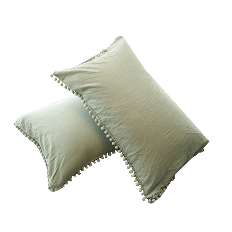 100% Pure Linen Ruffle Pillowcase Ruffled Pillow Cover Pillow Case|Pillow Case| |  - title=