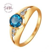Skm Роскошные сапфировые кольца для женщин с муассантом 14 к