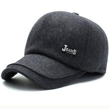 HT2618 Winter Baseball Cap Thick Warm Men Dad Hat with Earflap Male Adjustable Baseball Hat Wool Felt Cap for Men Adjustable Cap цена 2017
