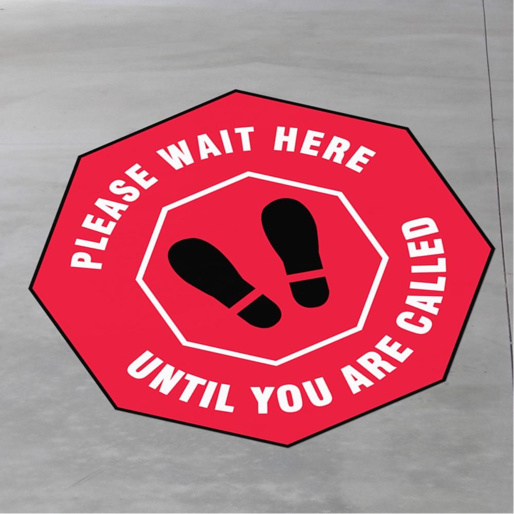 4Pcs Social Distancing Stickers For Shop Floor Decals  Self  Ahesive Social Distancing Stickers Distance Signal Sticker
