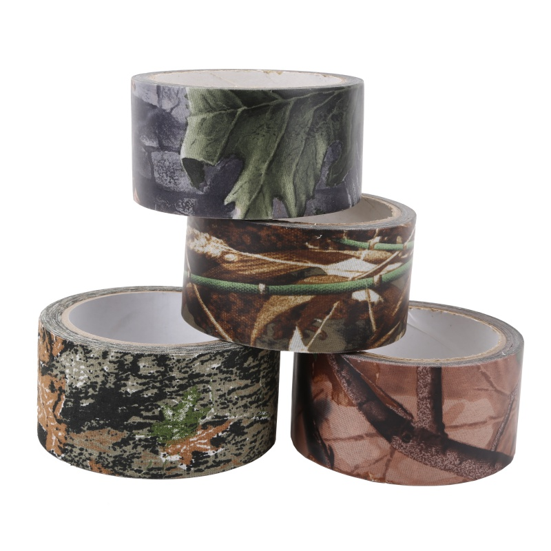 Waterproof Camo Tape Self-adhesive Durable Outdoor Camping Camouflage Stealth Tape Wrap Hunting Accessories