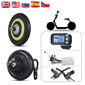 Electric Scooter Hub Motor Wheel 8in 12 in Electric Scooter Conversion Kits 24V 36V 48V 350W 500W Brushless Motor Wheel kits high end 105l 500w rubber dual wheel hub in motor for electric scooter skateboard outdoor fun sports