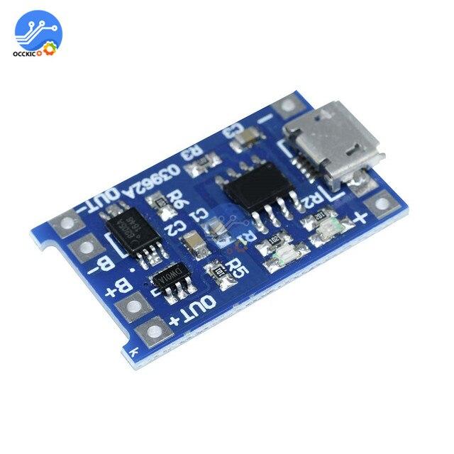 10pcs BMS 18650 리튬 이온 리튬 배터리 충전기 보호 보드 5V1A 마이크로 USB 마이크 증폭기 배터리 밸런서