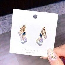 Woman Fashion Elegant Double Big Flowers Earrings Bohemia Korean Style Cute Flower Beach Party Drop Earring