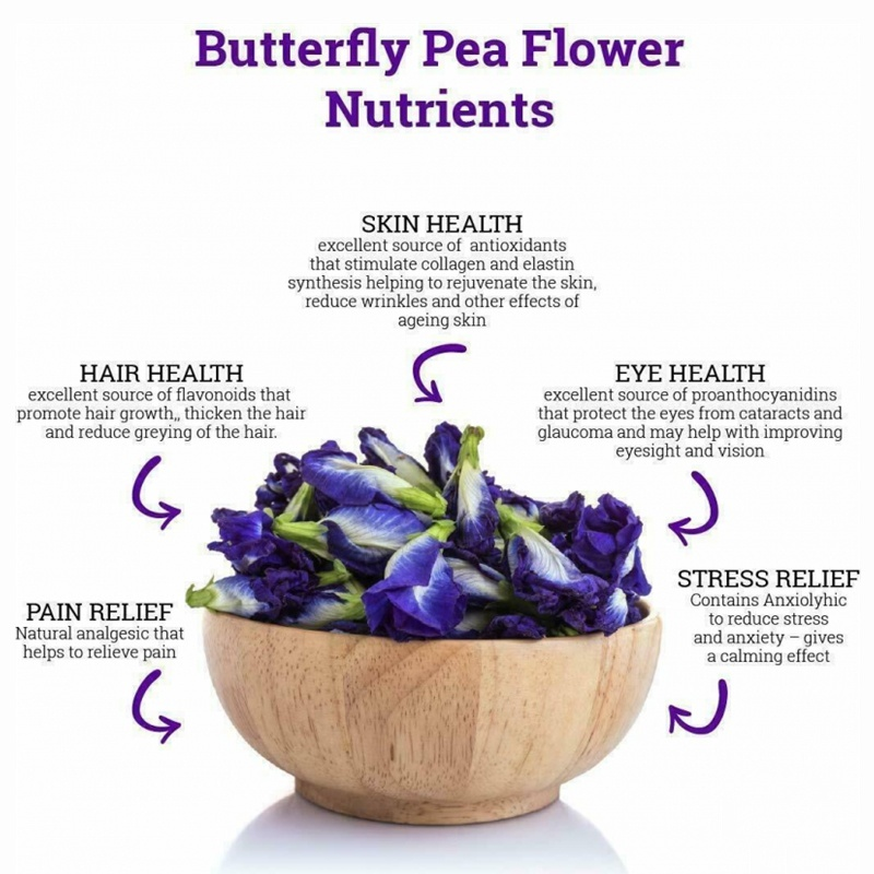 Minch Women Beauty Set Thailand Blue Butterfly Pea 25g Clitoria Ternatea Rose Chrysanthemum VitaminA Skin Care Product for Women