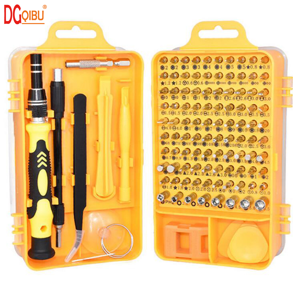 115 In 1 Screwdriver Set Multi-function Computer PC Mobile Phone Digital Electronic Device Repair Hand Home Screwdriver Tool Bit