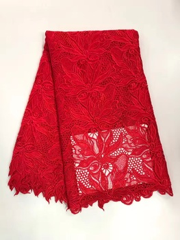 High quality nigerian wedding african lace fabric/ guipure cord lace fabric for wedding party in green color 5yards/lot R16851