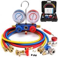 R134A HVAC A/C Refrigeration Kit Manifold Gauge Set R22 R12 R134A Auto Refrigerant H/L Car Conditioning Rep Tool Gauge