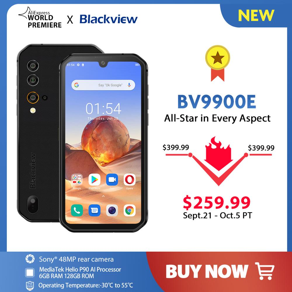Blackview BV9900E Helio P90 Rugged Smartphone 6GB+128GB IP68 Waterproof 4380mAh 48MP Camera NFC Android 10 Mobile Phone(China)