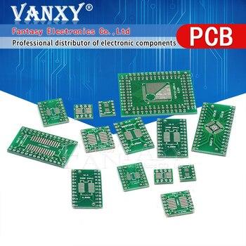10PCS PCB Board  SMD Turn To DIP SOP MSOP SSOP TSSOP SOT23 SOP8 SOP14 SOP16 SOP-8 10 SOP-14 SOP-16 SOP-20 24 SOP-28 SMT - sale item Active Components