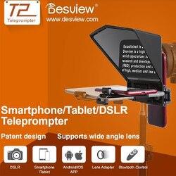 2020 Новый Bestview T2 Teleprompter для 8-дюймового планшета iPad телефонов Prompter открытый интервью речи DSLR читатель prompteur планшет