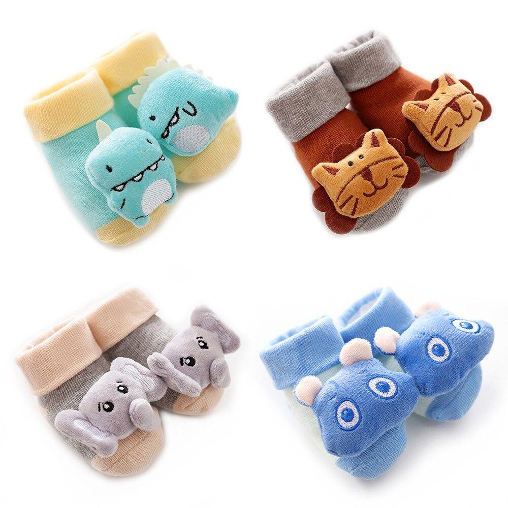Baby Socks Rubber Anti Slip Floor Cartoon Kids Toddlers Autumn Spring Cartoon Animal Newborn Cute 0-6-12month