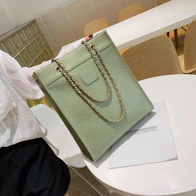 Diamond Plaid Chain Big Bag Handbags New 2019 Popular Korean Version Of The Slanting Large Capacity Fashion Tote Bag