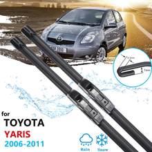 Lâmina de Limpeza do carro para Toyota Yaris Vitz XP90 2006 ~ 2011 MK2 Frente Brisas Limpadores de Párabrisas Acessórios Do Carro 2007 2008 2009 2010