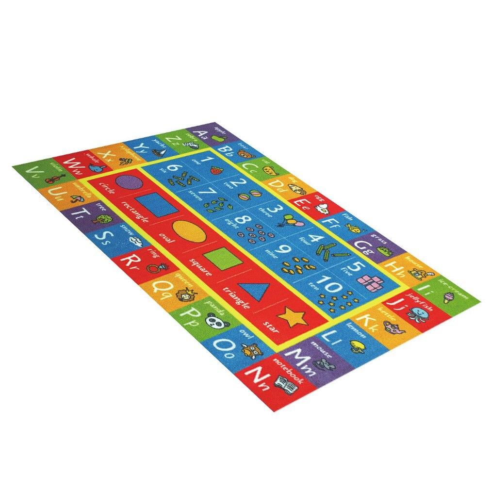 Baby Plush Carpet Digital Graphic Letter Pattern Carpet Mat Anti-Skid Shatter-Resistant Game Crawling Mat