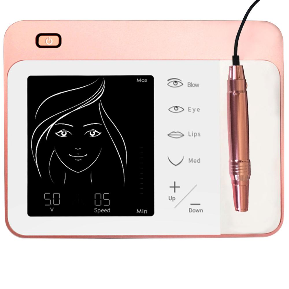 Ultra Quiet Tattoo Guns Permanent Makeup Machine Kits with Swiss Motor easy Click Cartridge Needles for eyebrows lips MTS-in Tattoo Guns from Beauty & Health    3