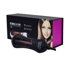 Commercial Mini Far Infrared Hot Air Hair Comb Detangling Hair Dryer Brush Multifunction Dries & Combing Hair Modeling Comb