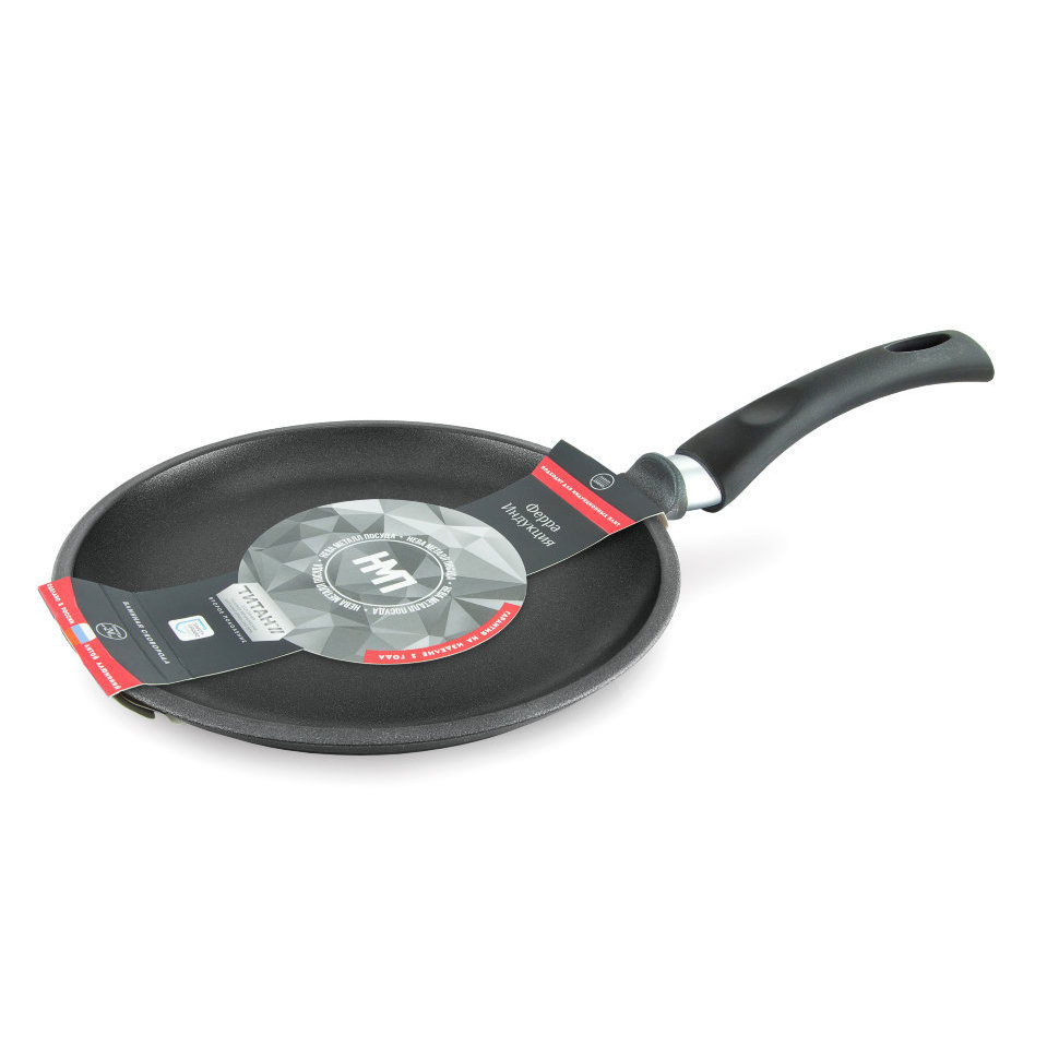 Frying Pan griddle Нева metal tableware, Ферра induction, 22 cm frying pan нева metal tableware natural minerals байкал 22 cm