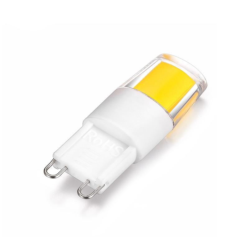 LKLTFX 100 шт. led G9 1508 COB AC 220 В led освещение светодиодные лампы G9 мини светодиодные лампы 110 в холодный - 4