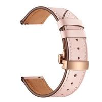 20mm 22mm Rose Rosa Armband Edelstahl Klapp Schnalle Metall Band für Samsung Galaxy Active2 42mm Getriebe s3 Amazfit Smart Uhr