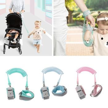 Anti Lost Wrist Link Add Key Lock Toddler Leash Baby Walker Safety Belt Wristband Walking Strap Rope Adjustable Harness 1.5M 2M