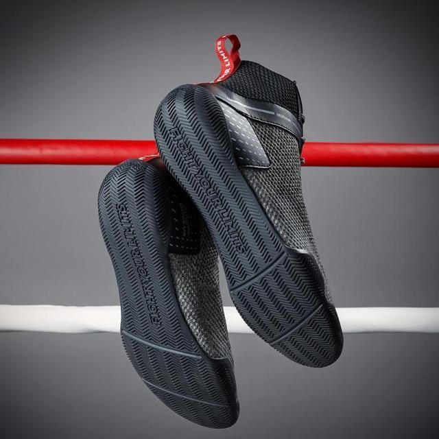 Calzado profesional para interiores para boxeo y lucha libre, calzado de levantamiento de pesas para hombres, botas de entrenamiento suaves y transpirables para boxeo y lucha.