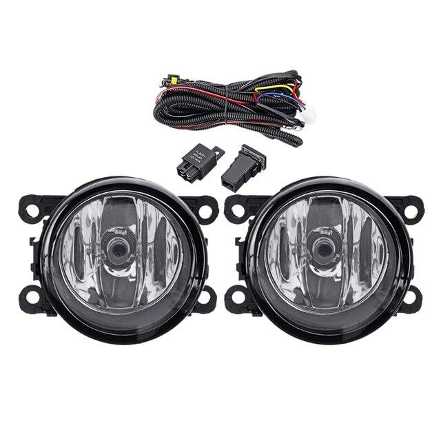 12V montaż reflektorów samochodowych światło przeciwmgielne LED dla Ford Edge 2015 2016 2017 2018 z przełącznikiem linii światła przeciwmgielnego Bezel