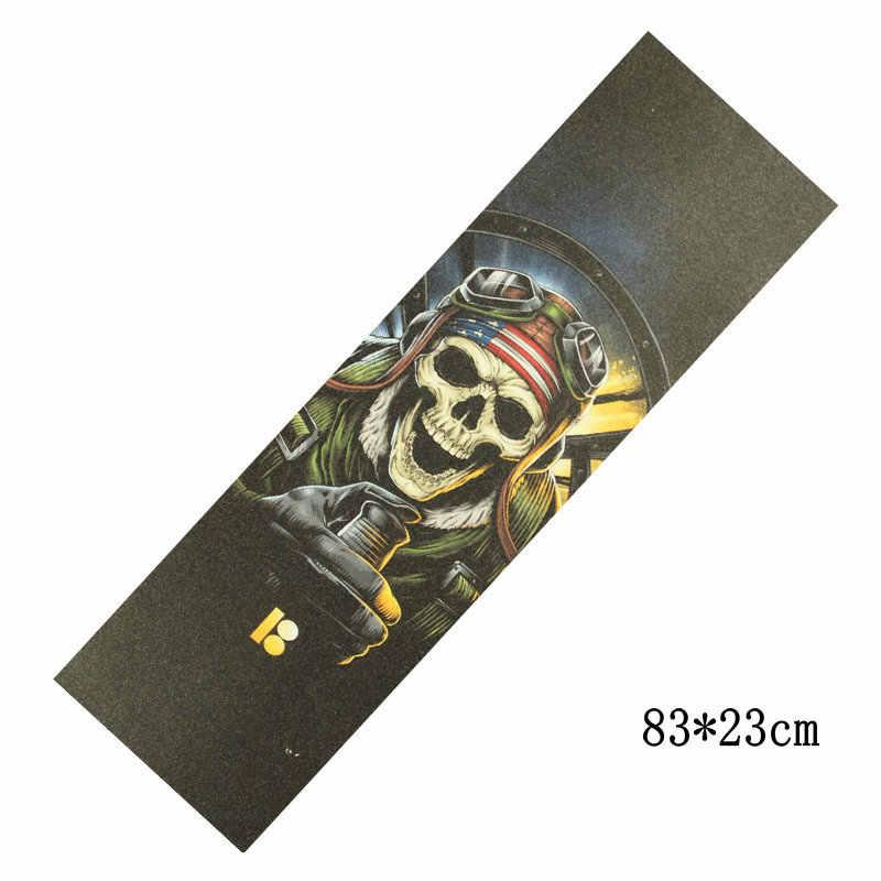 83*23cm nowy gruby deskorolka papier ścierny wodoodporna Longboard taśma ochronna do deskorolki ryby pokładzie naklejki skuter papier ścierny odporne na zużycie naklejki